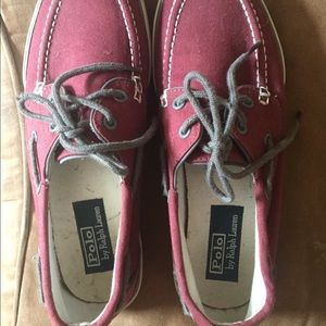 Ralph lauren loafers size 8 in maroon color